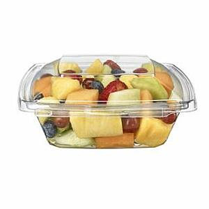 Inline Safe-T-Fresh PagodaWare 16oz Clamshell PET container