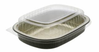 Pactiv Clear.Gold.Black Aluminum Container Classic Tray-1