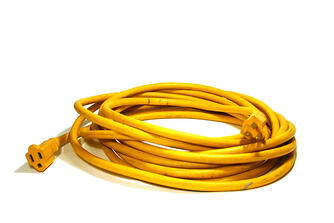 Yellow Electric Cord